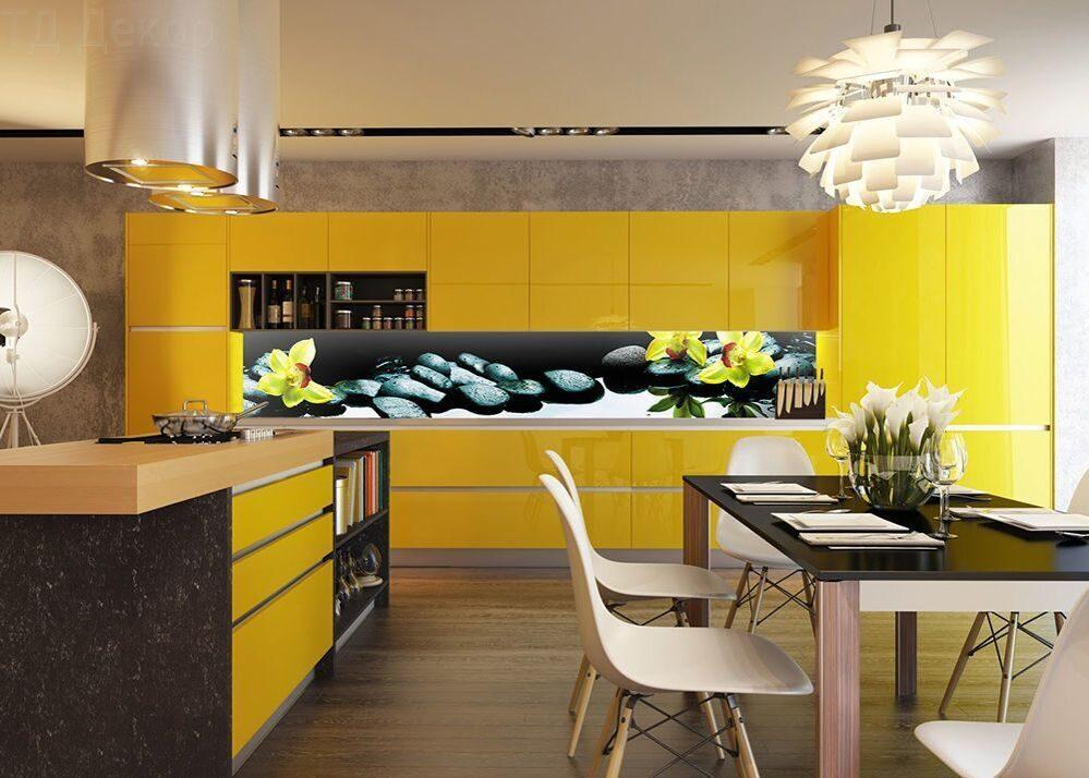 лучшие фото желтых кухонь планка